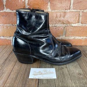 Tony Lama Side Zip Ankle Boots Mens 8.5 EEEE